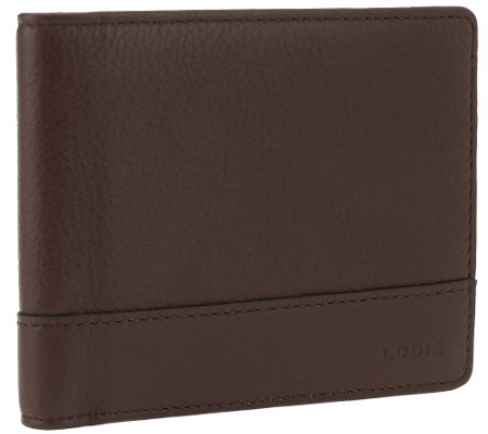 LODIS Bi-fold Italian Leather Wallet with Built-in RFID Protection