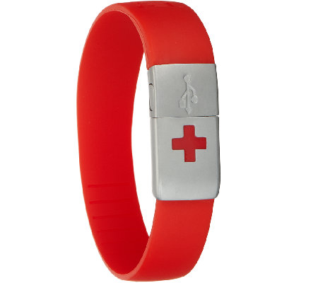 EPIC-id Waterproof Medical USB Silicone Band