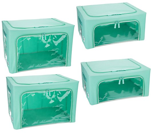 Periea Set of 4 Collapsible Storage Boxes (2) Large & (2) Medium Boxes