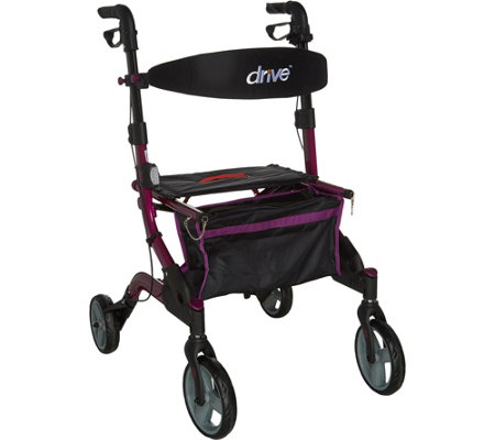Drive Medical Foldable Lightweight Rollator with Light