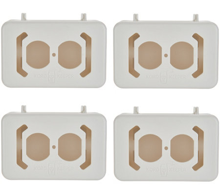 Kord Keeper Set of 4 Cord Outlet Organizers