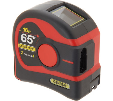 General Tools 2-in-1 65-ft Laser Tape Measure w/ Digital Display