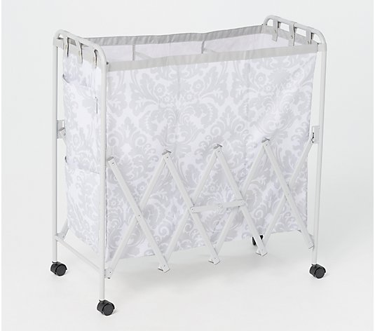 ClutterFree Collapsible Laundry Basket Sorter with Wheels