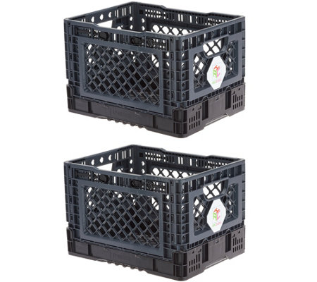AmaziCrate Set of 2 Heavy Duty Collapsible Crates