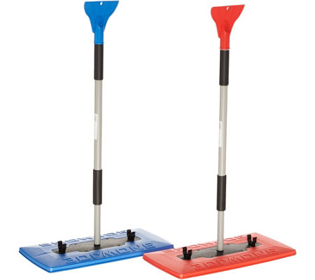Snow Joe Set Of 2 Oversized Snow Brooms W Ice Scrapers