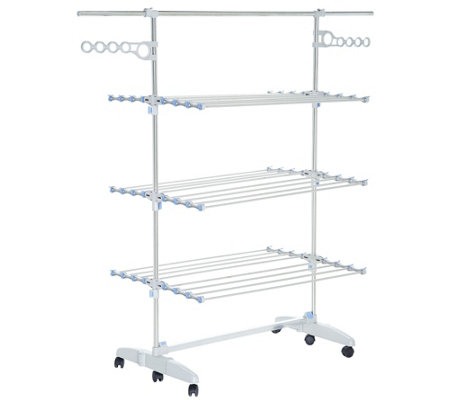 Nobly Foldable Drying Rack System with Extension Poles