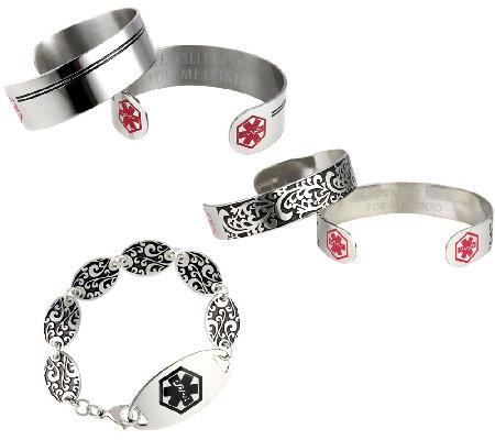 Lauren S Hope Women Or Men Medical Id Bracelet
