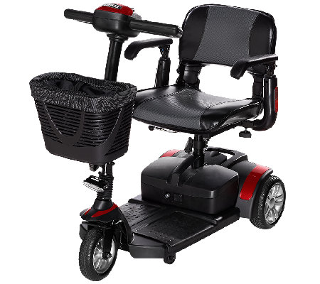 Drive Medical Compact Travel Scooter with Basket and Armrests
