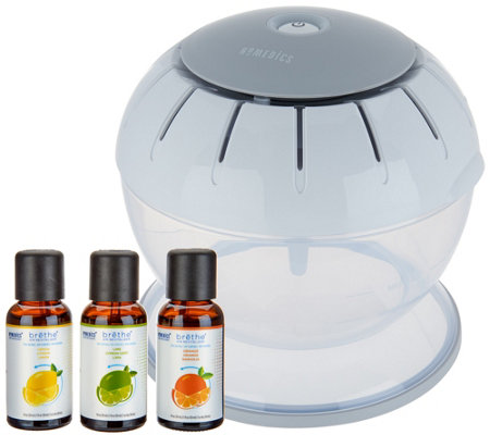 HoMedics brethe Air Revitalizer with 3 Citrus Extracts