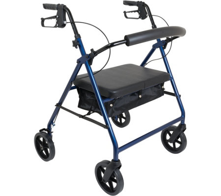 "Carex ProBasics Heavy Duty Aluminum Rollator 8""Wheels W/Pouch"