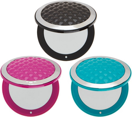 Set of 3 Floxite Mini Compact Mirrors