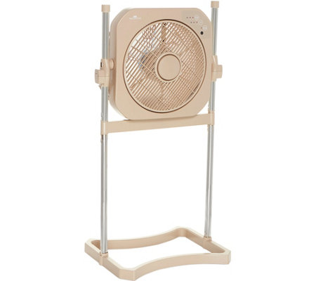 "Air Innovations 12"" Swirl Cool Tabletop and Stand Fan with Remote"