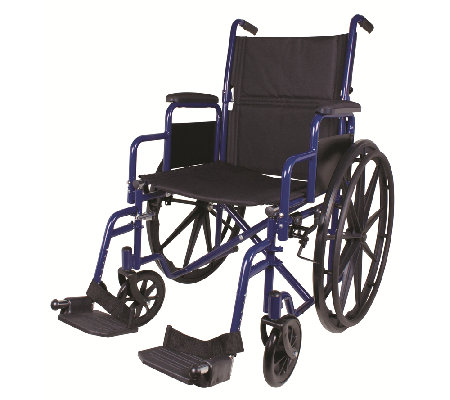 Carex Classics Large Seat Foldable Wheelchair