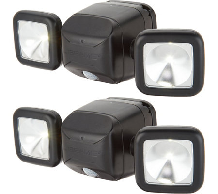 Mr Beams S/2 600 Lumen Dual-Head Motion Sensor Security Lights