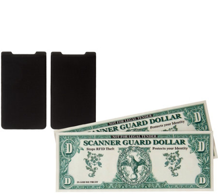Set of 2 Cell Phone Card Holders w/ 2 Wallet Protectors