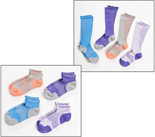 Tommie Copper 4-Pack Men's Or Women's Compression Infrared Socks