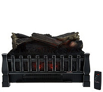 Duraflame 1500W Heated Log Fireplace Insert with Crackling Sound - V35041
