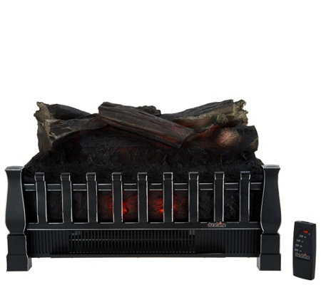 Duraflame 1500W Heated Log Fireplace Insert with Crackling Sound