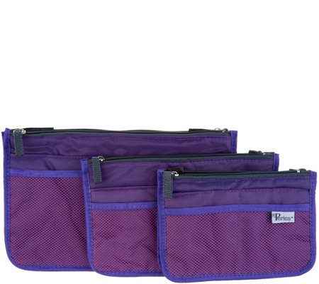 Periea Set of 3 Handbag Organizers with Pockets