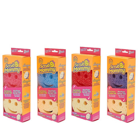 Scrub Mommy Set of 8 Double Sided Multi Color Sponge Set