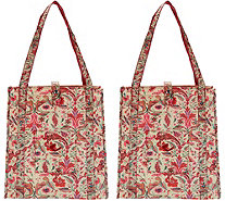 The Camouflage Company Set of 2 Chic Shopper Bags w/ Pocket - V35148
