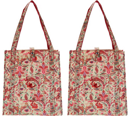 The Camouflage Company Set of 2 Chic Shopper Bags w/ Pocket