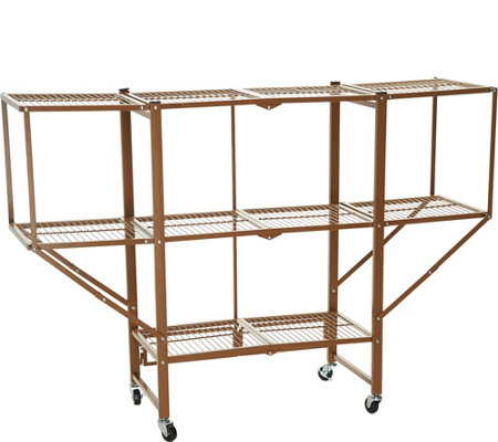 Oasis 3-Tier Heavy Duty Rack with Expandable Side Shelving