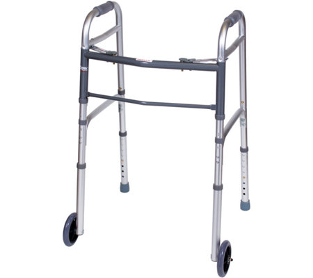 Carex Folding Adjustable Walker with Wheels