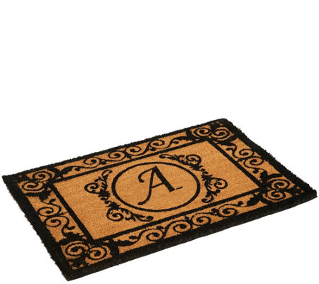 """As Is"" 2' x 3' Outdoor Monogram Initial Coir Doormat"