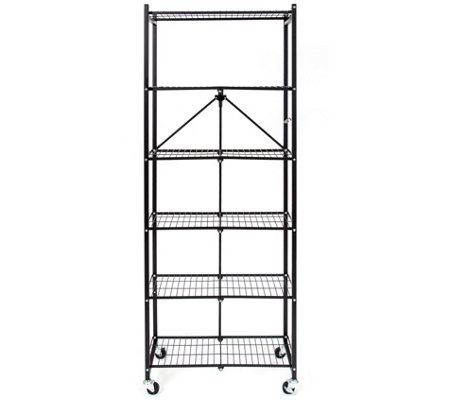 Pop-It 6-Tier Collapsible Rack with Wheels