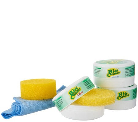 Bio Cleaner Set of 3 Multi-Purpose Cleaning Clays with Sponges