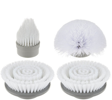 4 Piece Power Scrubber Replacement Scrubber Brush Head Set