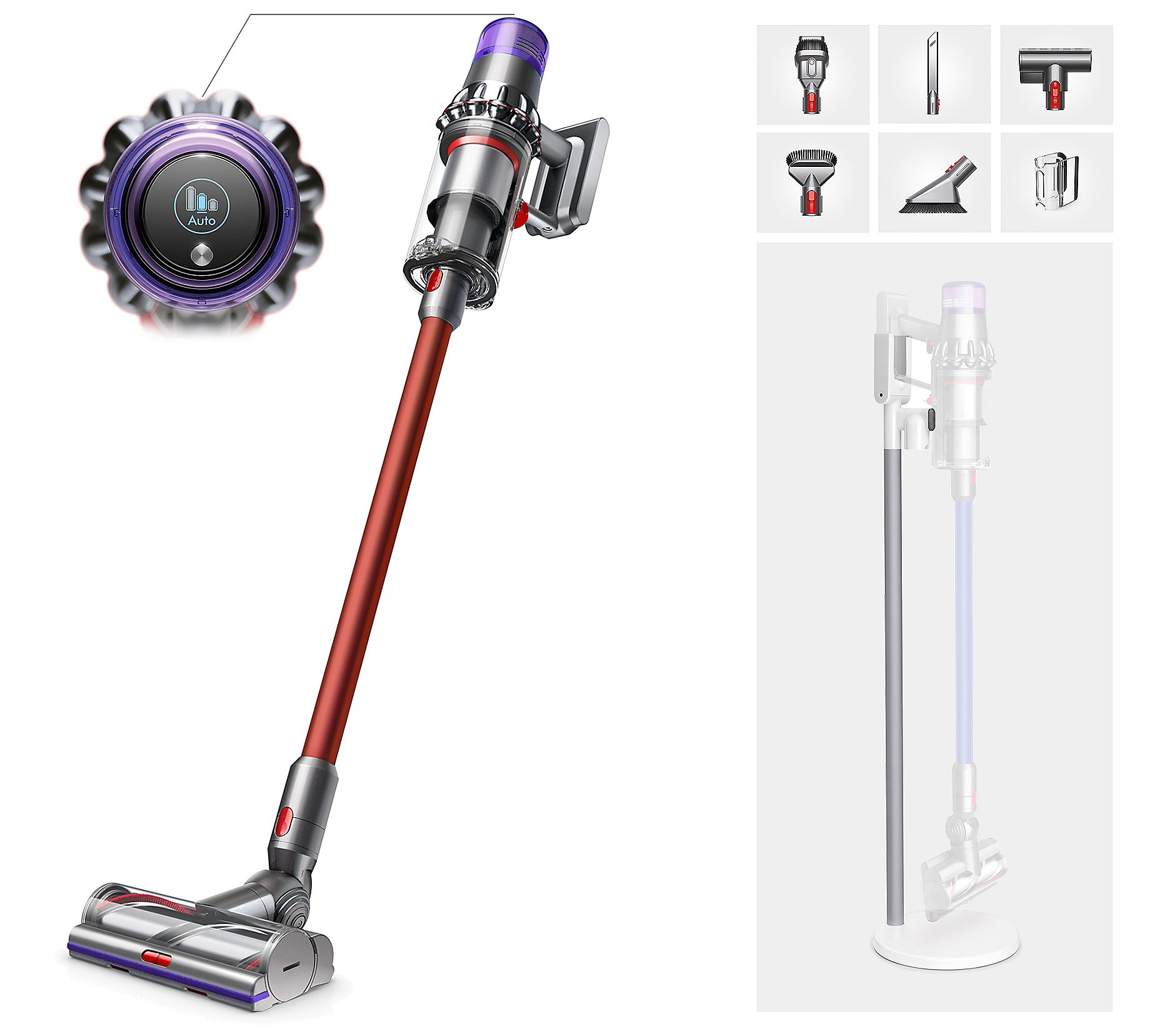 Dyson V11 Torque Drive Cordless Vacuum with Grab-and-Go Floor Dok