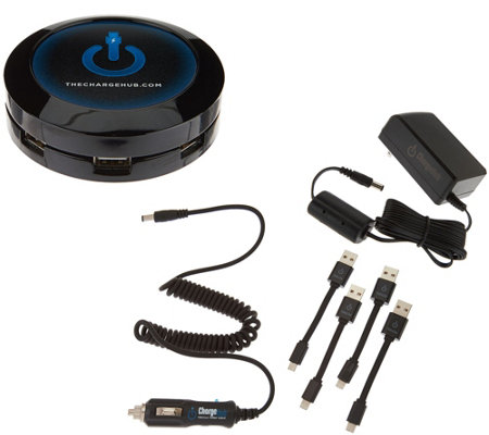 ChargeHub 7 USB Port Charging Station with Vehicle Cable