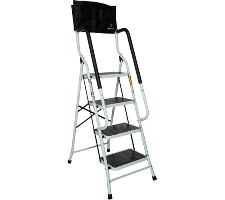 Simple Step Ladder w/ Padded Rails and Caddy