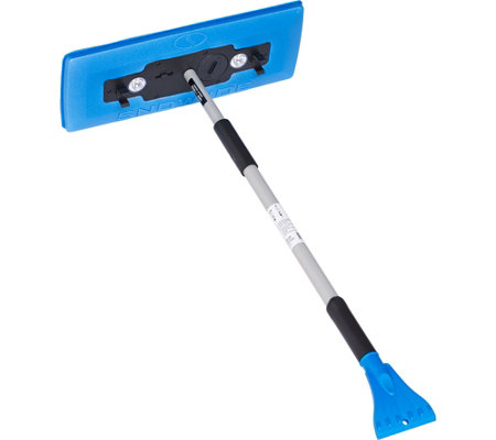 Snow Joe PRO Telescoping Snowbroom & Ice Scraper w/ 4 LED Lights