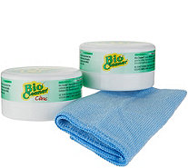 Bio Cleaner Set of 2 Multipurpose Cleaning Clay with Cloth - V35857