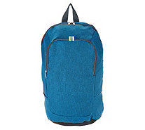 Kikkerland Convertible Backpack with Contrast Piping Detail - V35957