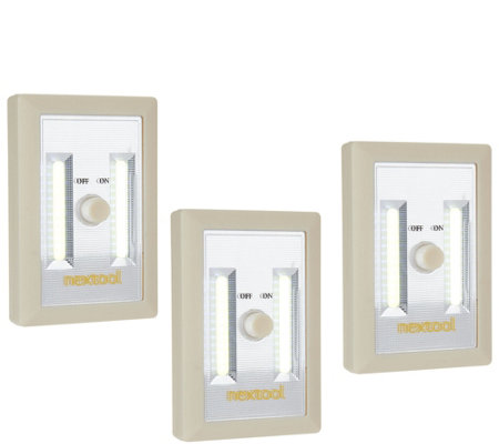 Set of 3 Portable LED Lights with Dimmer Switch