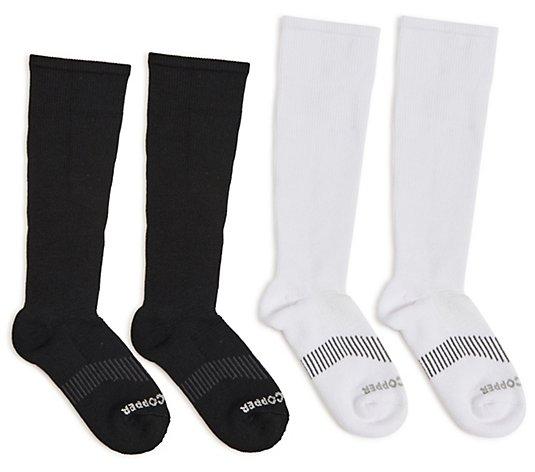 Tommie Copper Set of 2 Compression Socks w/ Tru Temp Technology