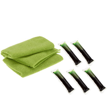 Green Gobbler 5 pc Ultra Pacs Refill Kit with 2 Microfiber Cleaning Cloths