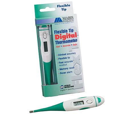 Mabis 60-Second Flexible Tip D igital Thermome ter