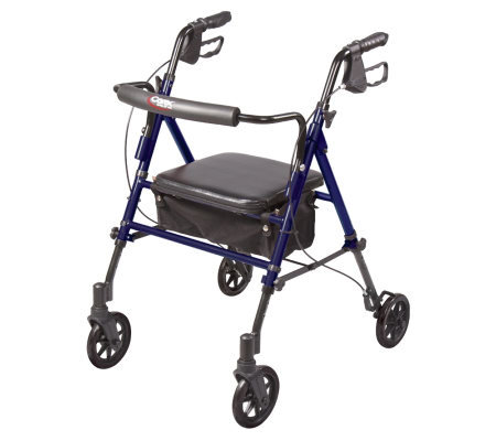 Carex Step-n-Rest Rollator with Padded & Adjustable Seat