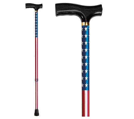 Carex Derby Designer Cane-USA Flag