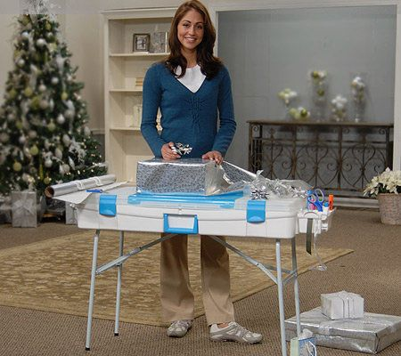 Snapware Portable Gift Wrap And Crafting Table With Storage Qvc Com