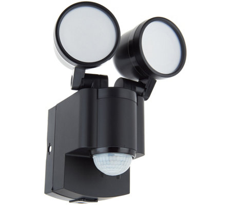 IQ America Dual Head Motion Sensor LED Spotlight with Batteries