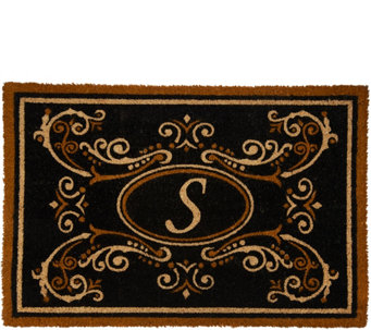 2u0027 X 3u0027 Outdoor Tri Color Monogram Initial Coir Doormat   V35572