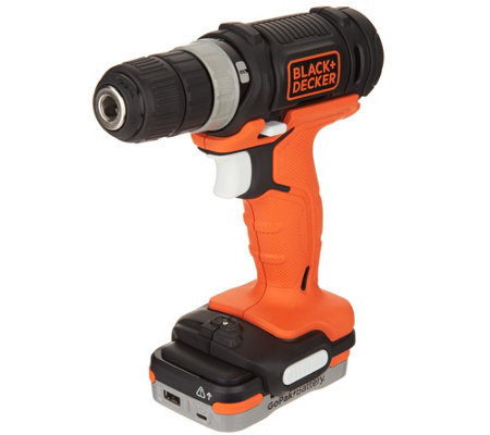 Black & Decker 12V Cordless Drill with GOPAK Battery
