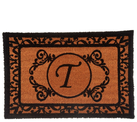 2' x 3' Outdoor Monogram Initial Coir Doormat