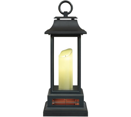 duraflame lantern style infrared quartz heater page 1 qvc com